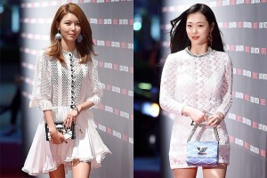 1504 Sooyoung and Sulli in LV