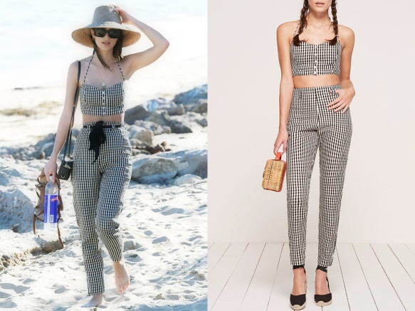1703 Emily - Reformation Claudia Two Piece Sudoku (Malibu)